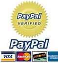We Accept Visa, Master & Paypal Payment